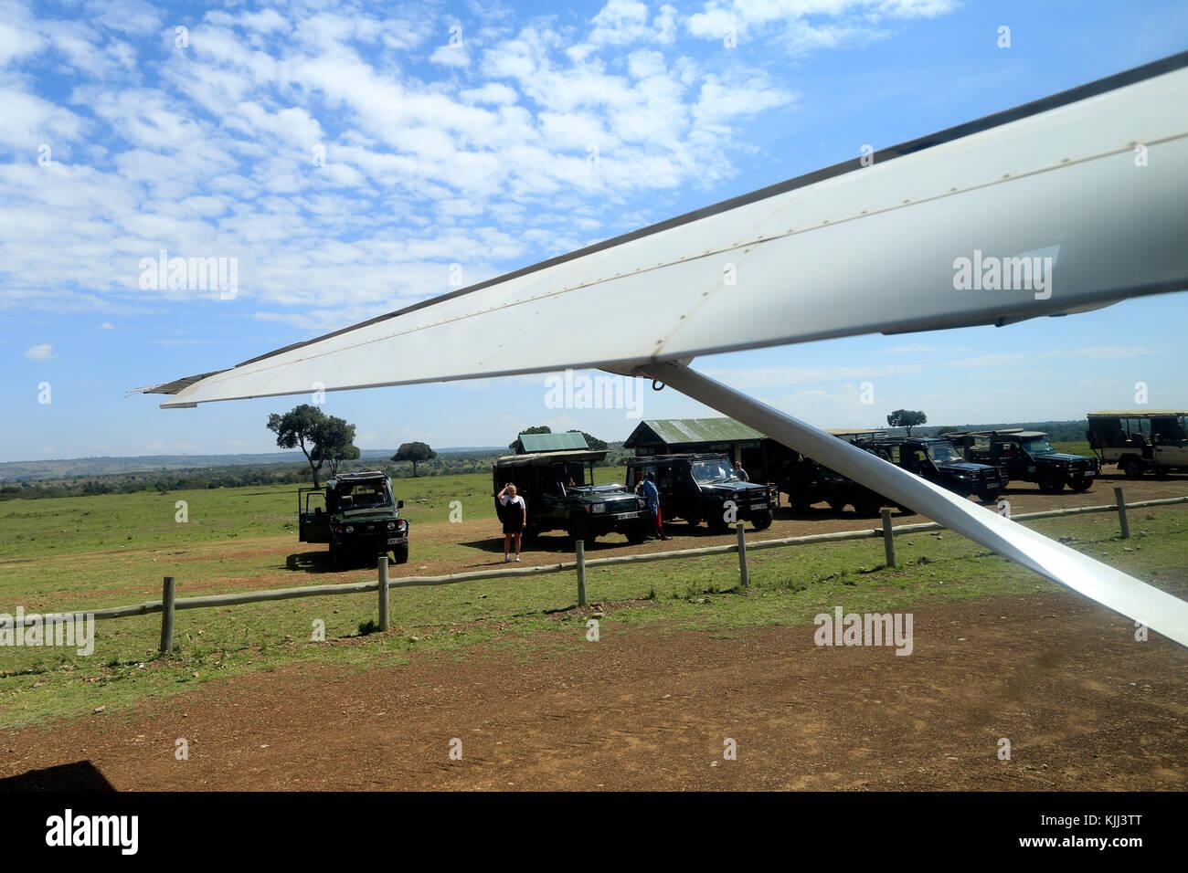 Mara Serena viaje aéreo. La reserva Masai Mara. Kenya. Imagen De Stock