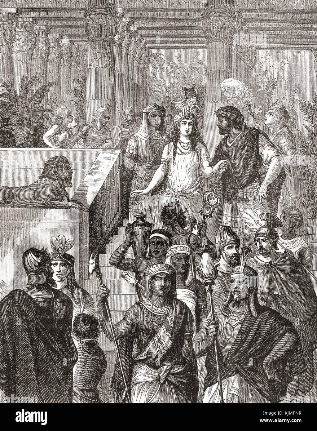 Antonio y Cleopatra en Egipto. cleopatra vii philopator, 69 - 30 A.C., aka cleopatra. active último gobernante del Foto de stock