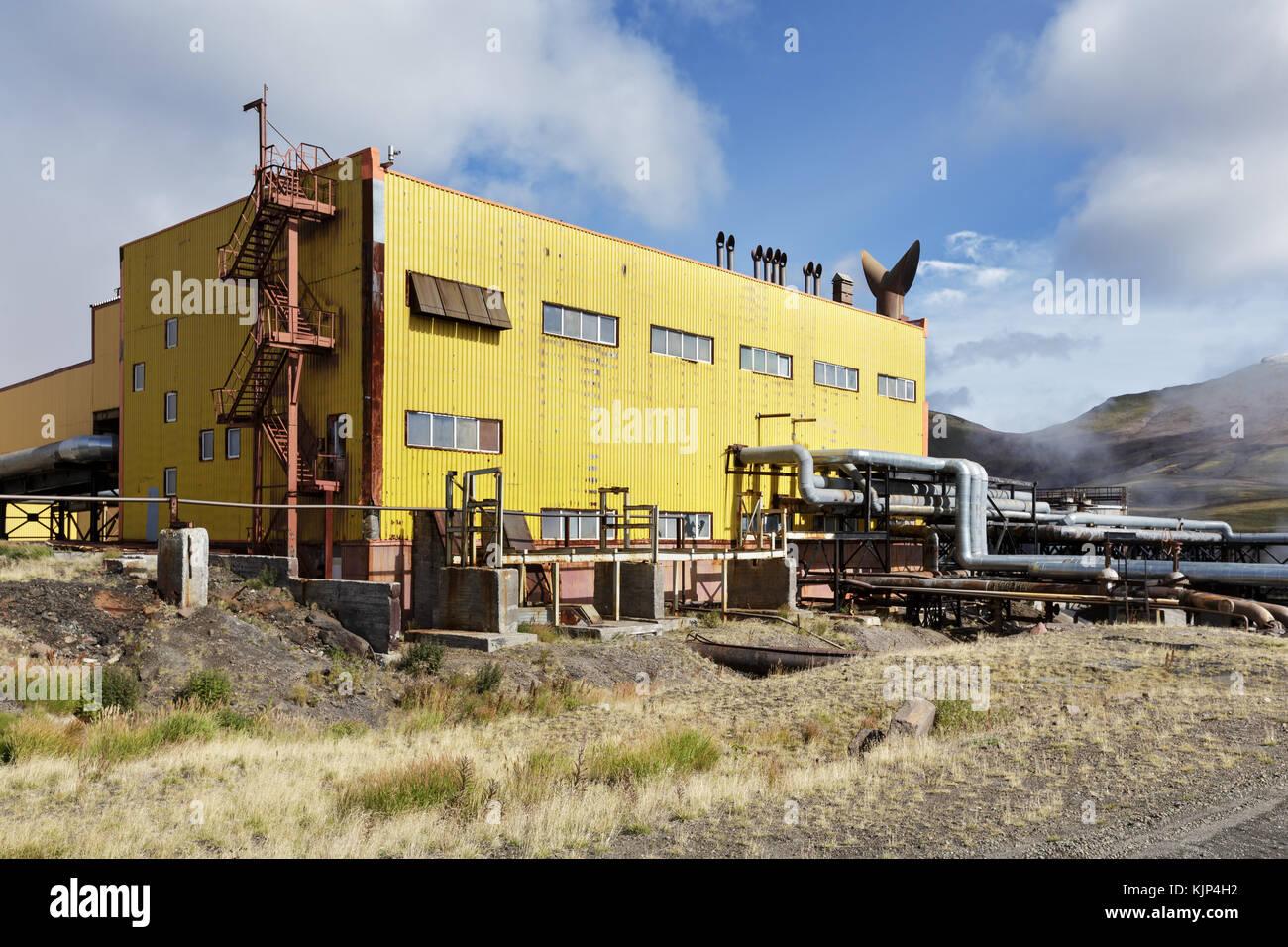 Separador y estación de bombeo de la estación de energía geotérmica mutnovskaya (mutnovskaya Imagen De Stock