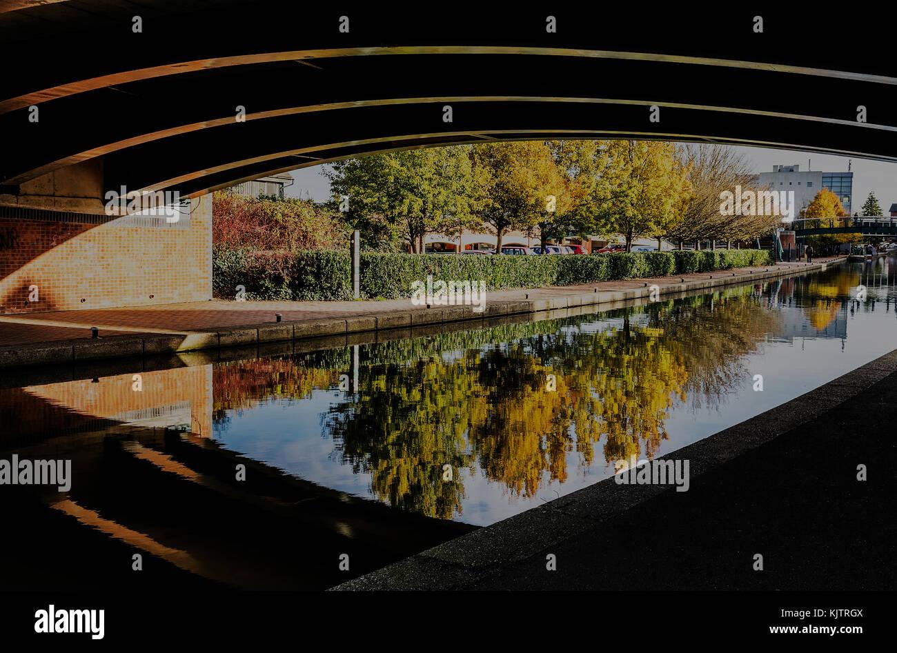 Tom rolt canal bridge, Banbury, Oxfordshire Foto de stock