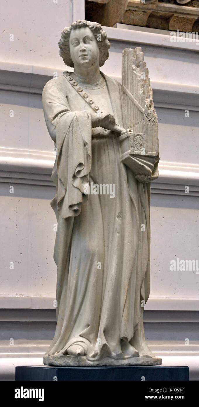 Piero di Giovanni Tedesco, Angelo con organo portativo - Piero de alemán, Juan Ángel con ojo de buey, Imagen De Stock