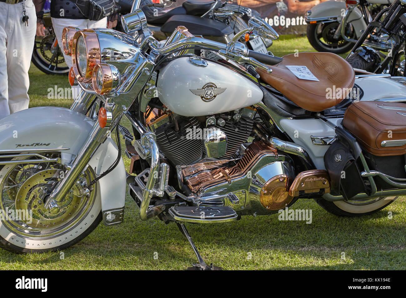 Harley Davidson Fatboy motocicleta. Motos personalizadas Imagen De Stock