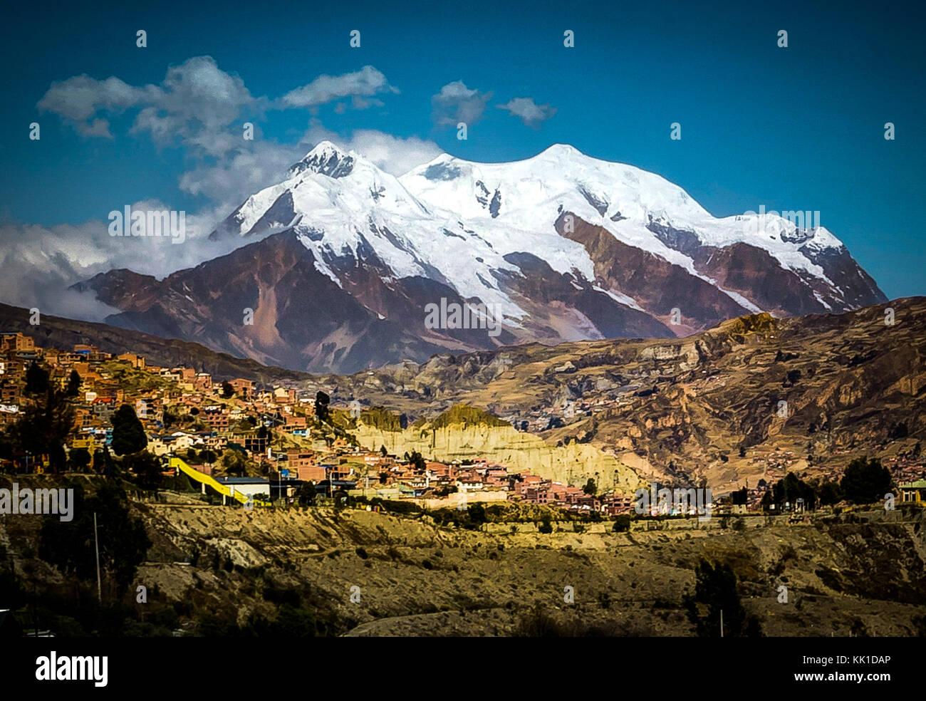 Foto tomada en agosto de 2017 en La Paz, Bolivia, América del Sur: Imagen De Stock