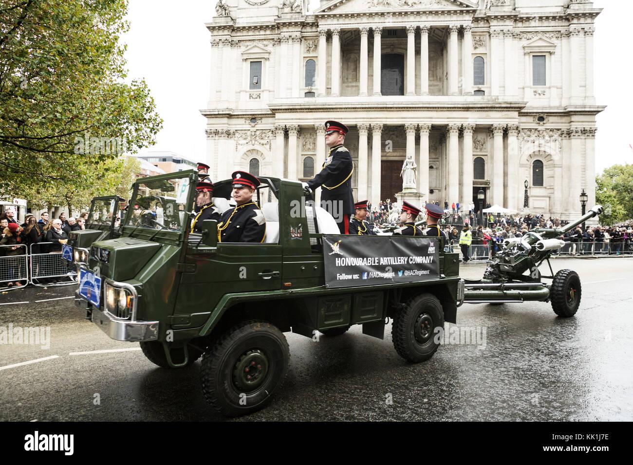 Honorable compañía de artillería en el show del alcalde de Londres. Imagen De Stock