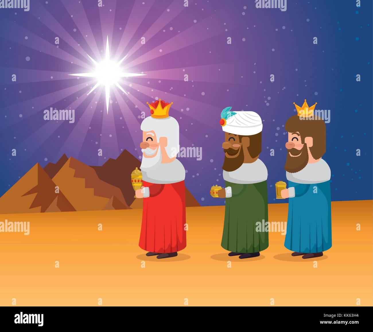 Ver Fotos De Los Reyes Magos De Oriente.Los Reyes Magos De Oriente Dibujos Animados Ilustracion Del