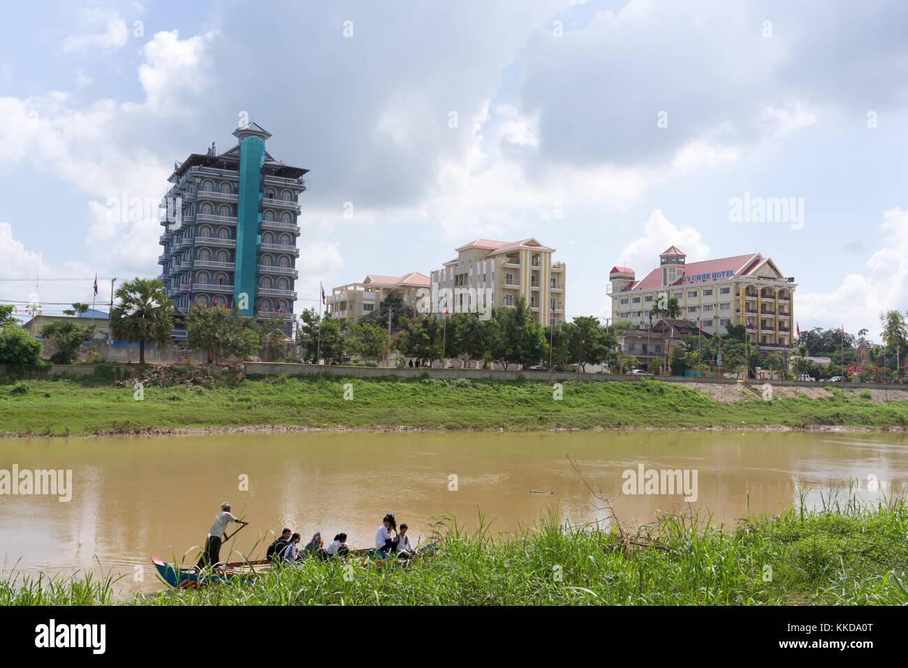 Stung sangke River en la ciudad de Battambang Imagen De Stock