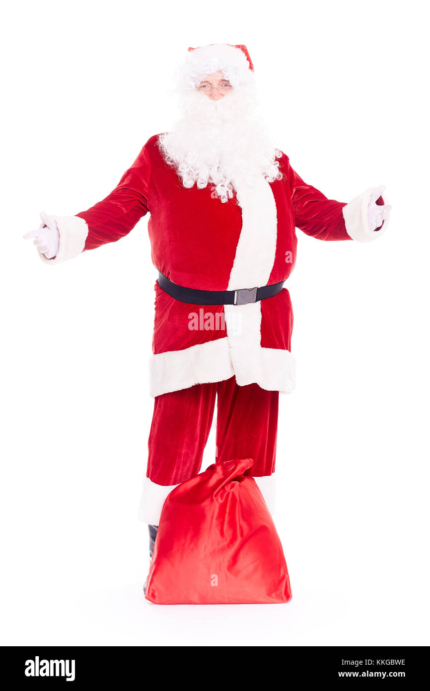 Santa Claus con bolsa Foto de stock