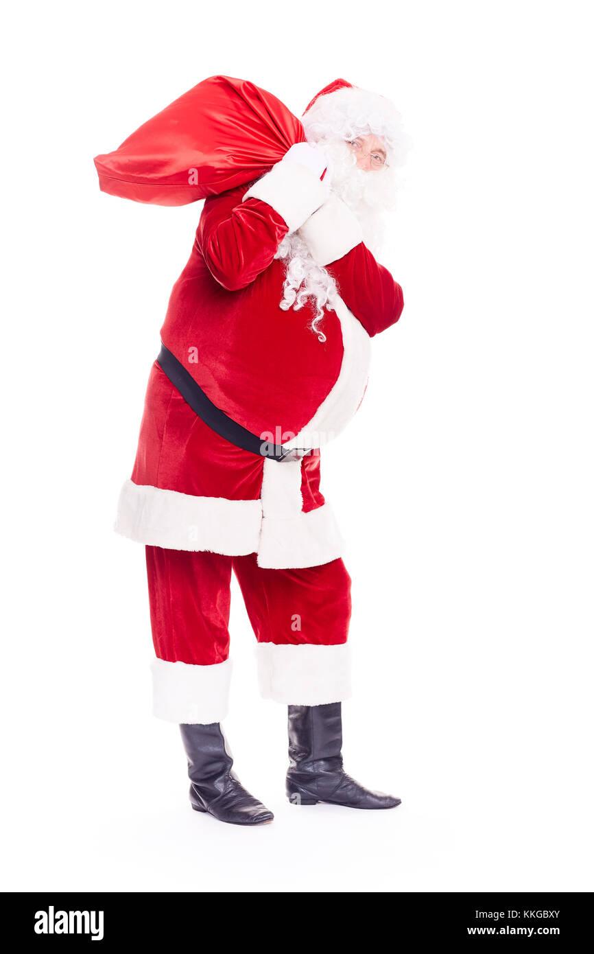 Santa Claus con bolsa Imagen De Stock