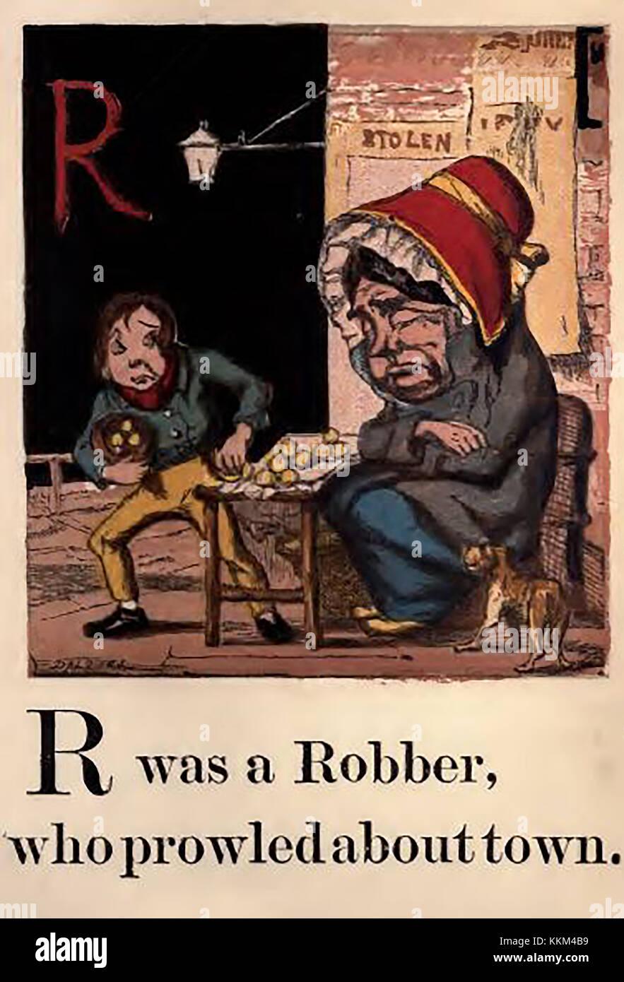 Una histórica victoriana color abc la ilustración de libros ...