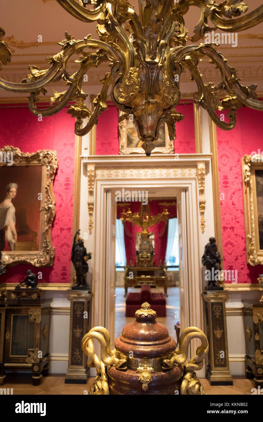 Gran Bretaña, Inglaterra, Londres, el interior de la galería de arte de la Colección Wallace Imagen De Stock