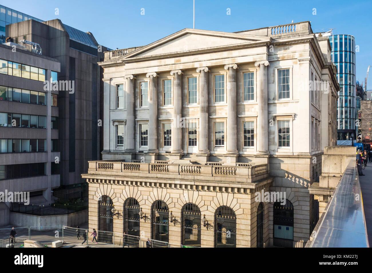 Los pescaderos' empresa histórica Greek Revival pescaderías Hall o pescados por Henry Roberts, Thames Imagen De Stock