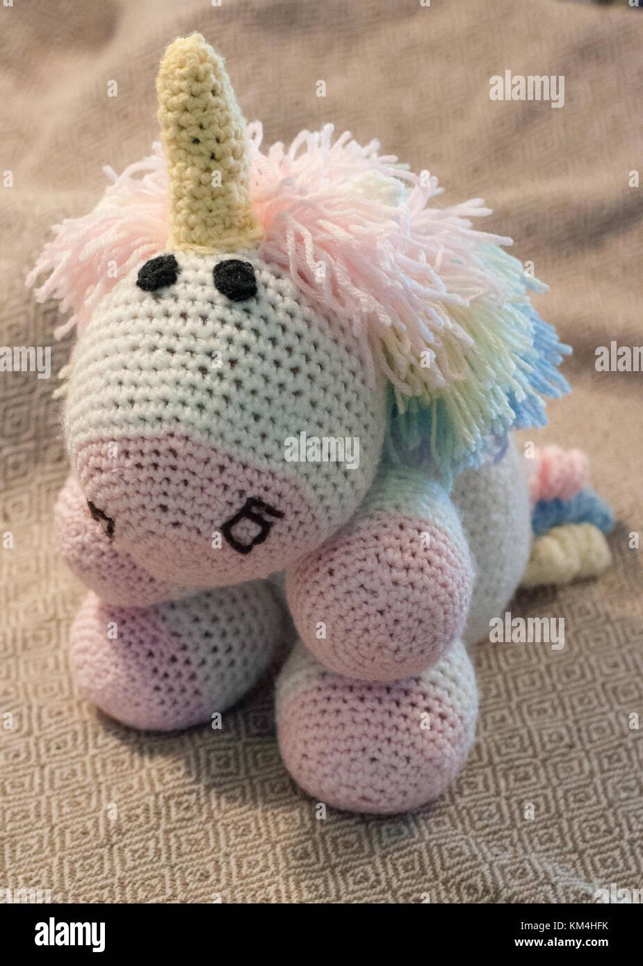 Regalos Hechos A Mano Para Ninas.Hecho A Mano Tejido A Crochet Unicornio Un Regalo Perfecto