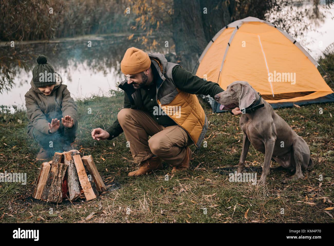 camping Imagen De Stock