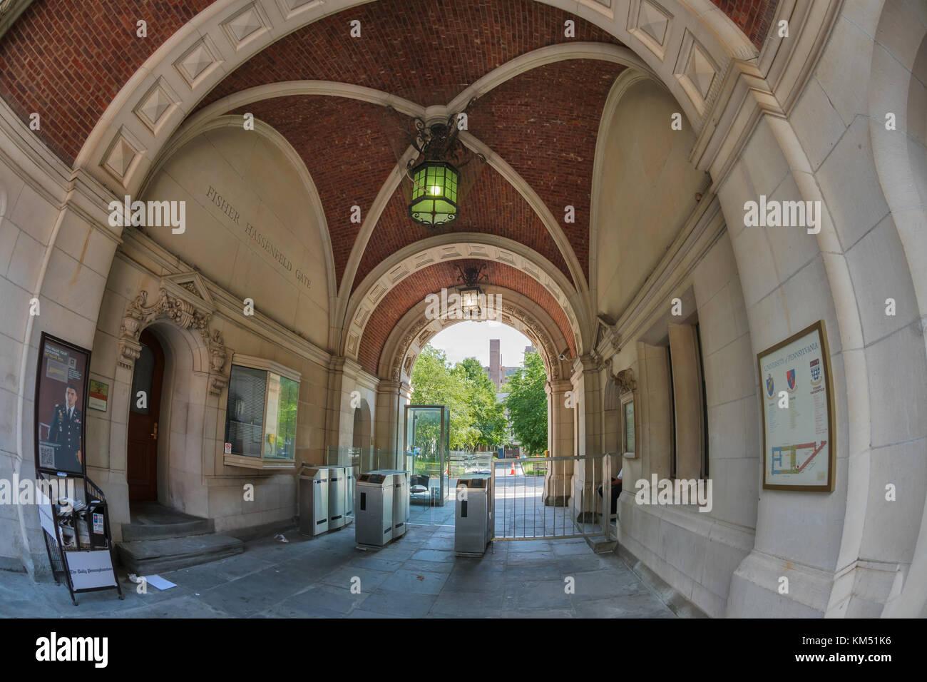 La famosa Universidad de Pensilvania, Filadelfia, EE.UU. Imagen De Stock