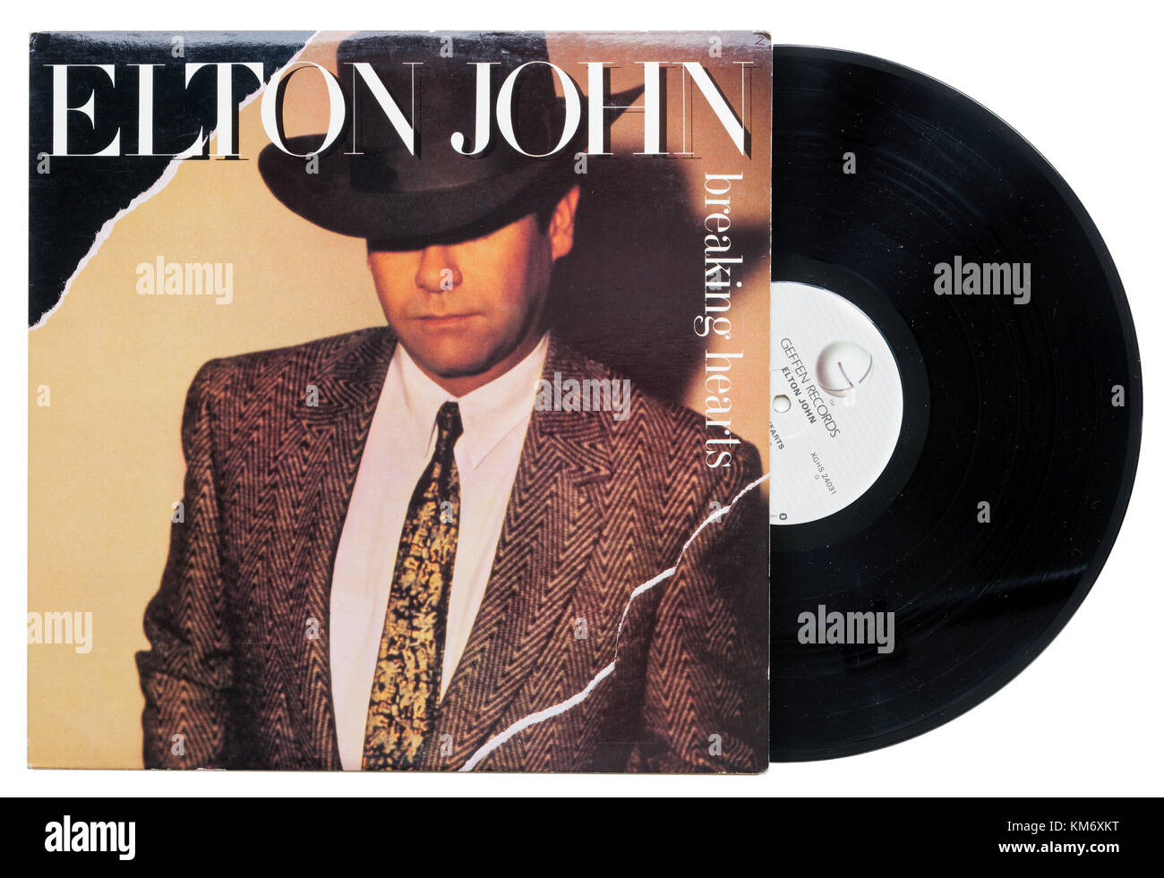 Elton John rompiendo corazones álbum Imagen De Stock
