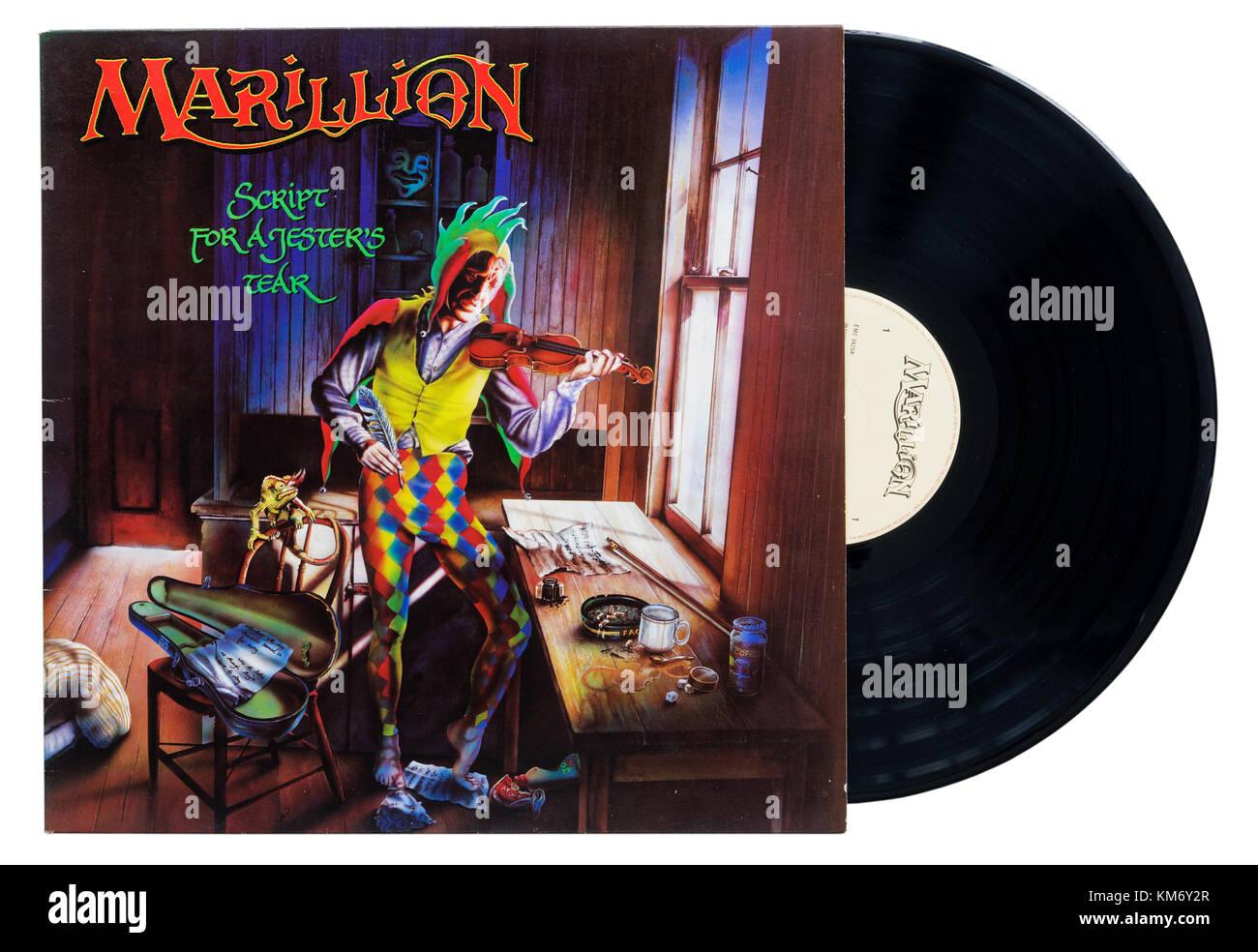 Marillion Script for a Jester's Tear álbum Imagen De Stock