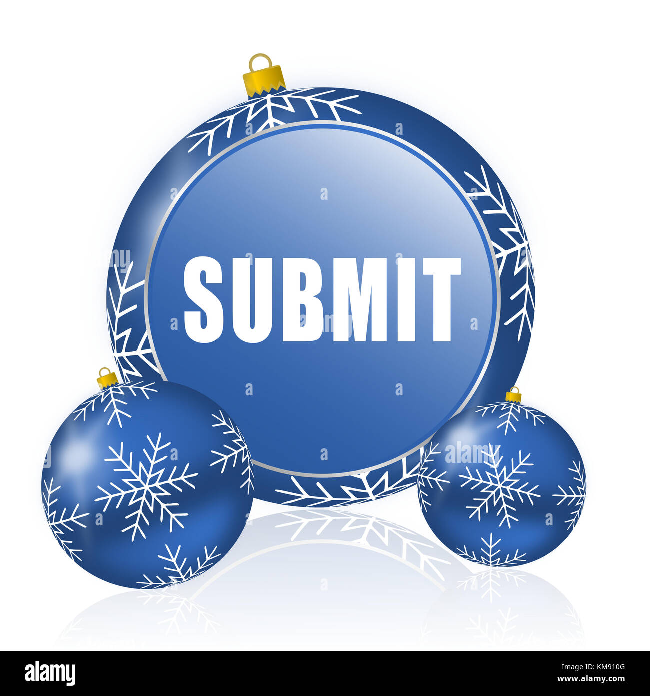 Enviar bolas de navidad icono azul Imagen De Stock