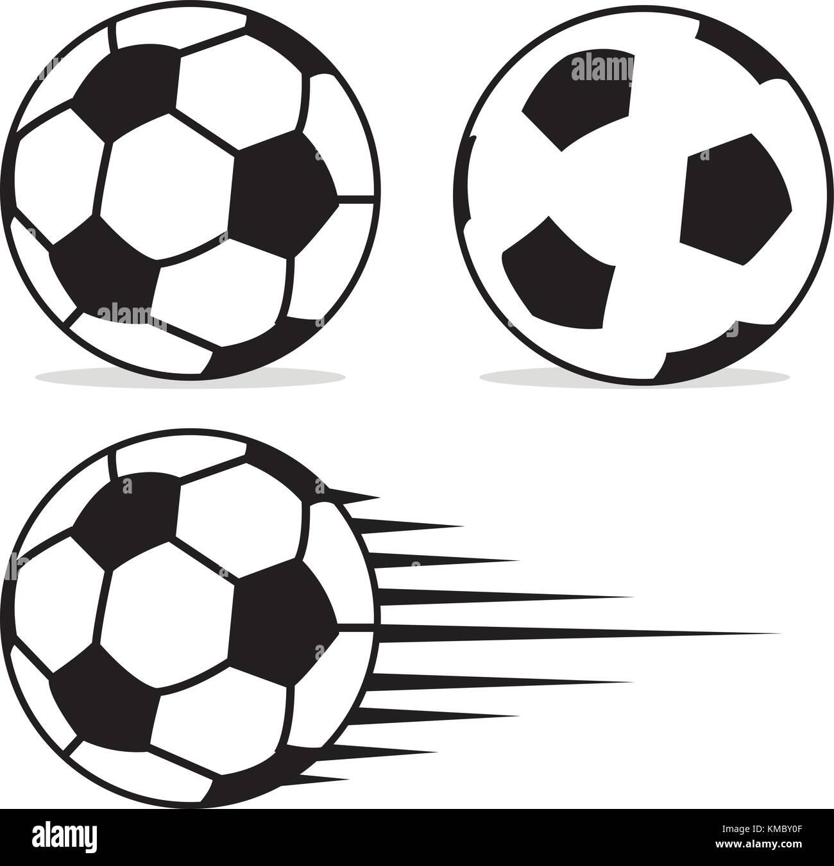 Pelota De Fútbol Con Diseño Plano Aislado Sobre Fondo Blanco Vector