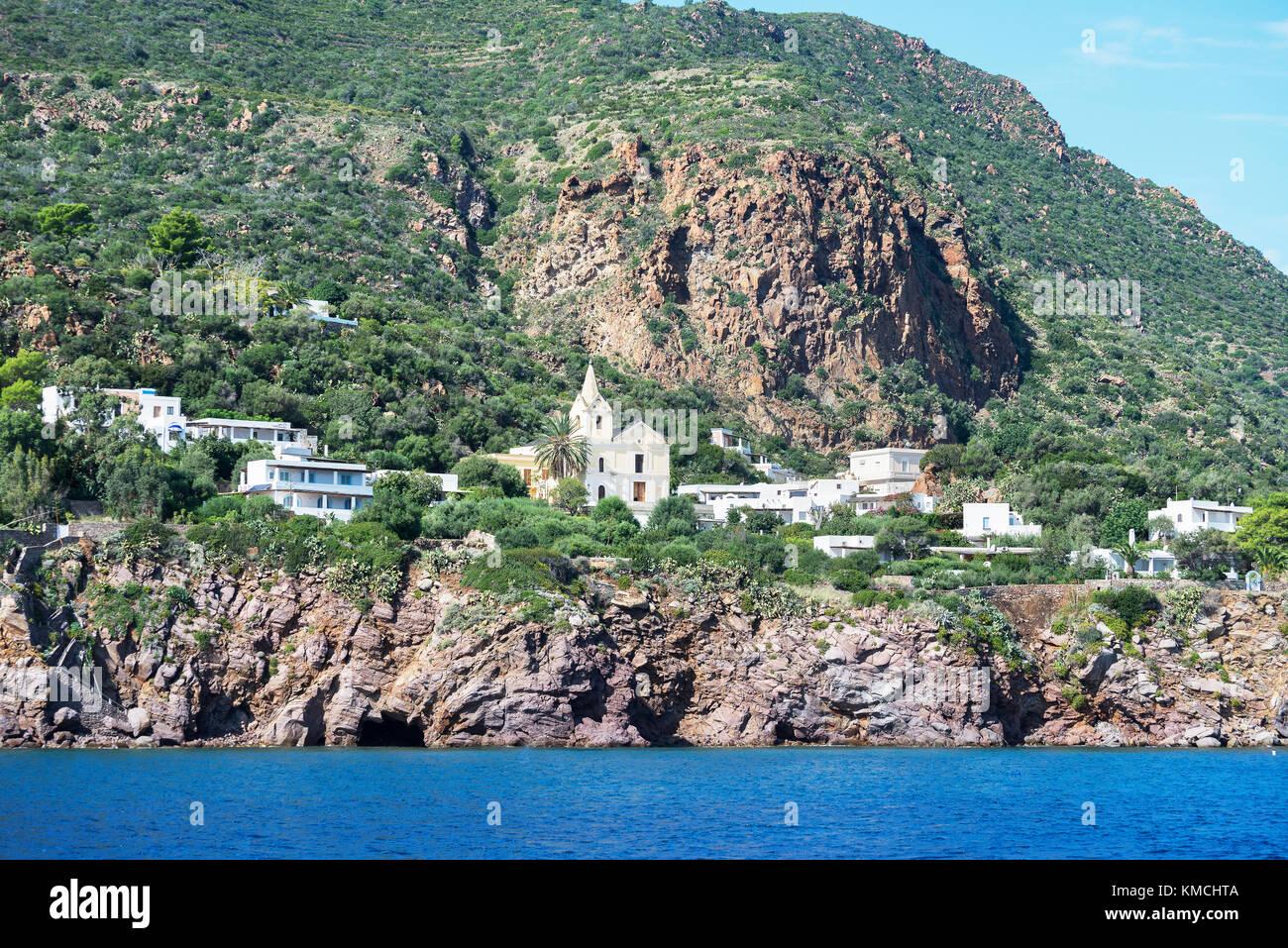 La isla panarea, Panarea, las islas Eolias, en Sicilia, Italia, Europa Foto de stock
