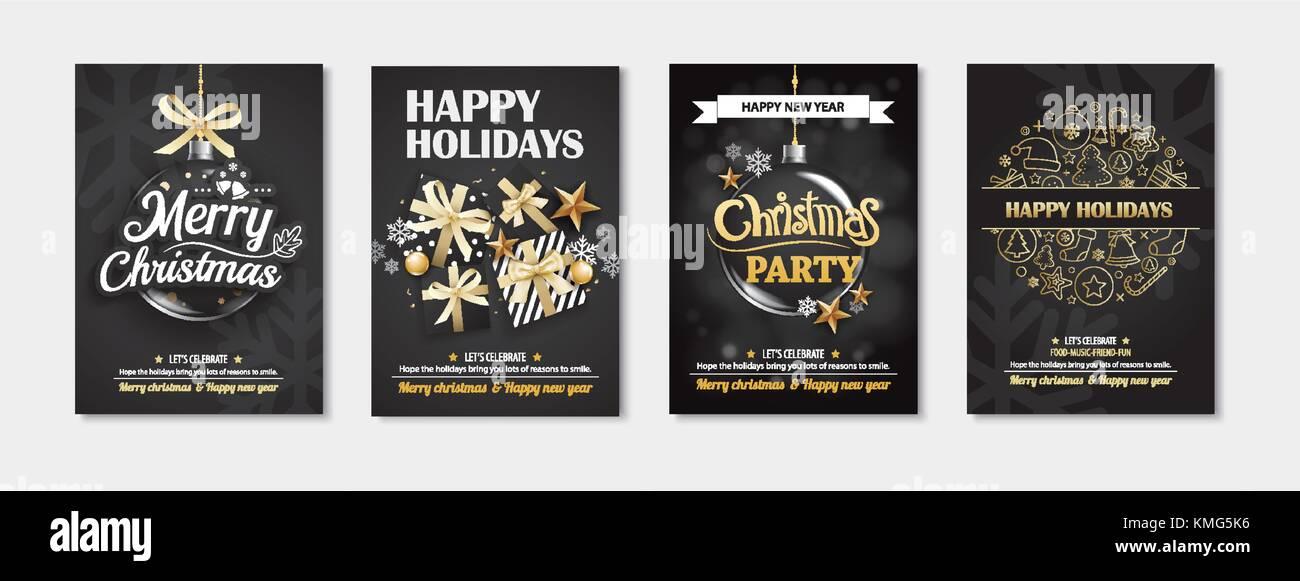 Feliz Navidad Y Tarjetas De Felicitación Invitaciones Para