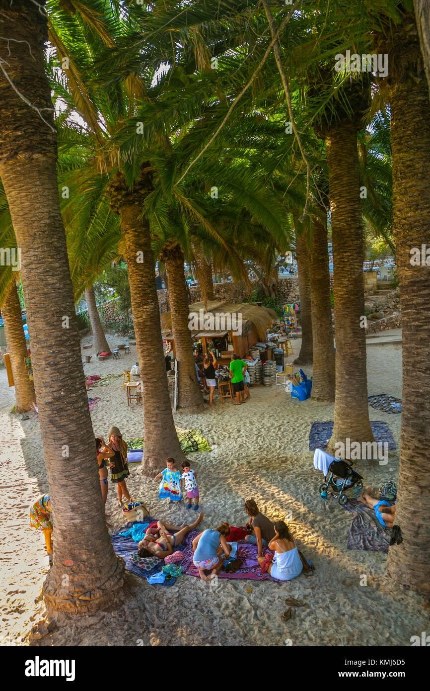 Cala en Blanes Beach. El municipio de Ciutadella de Menorca. Menorca. Islas Baleares. España Imagen De Stock