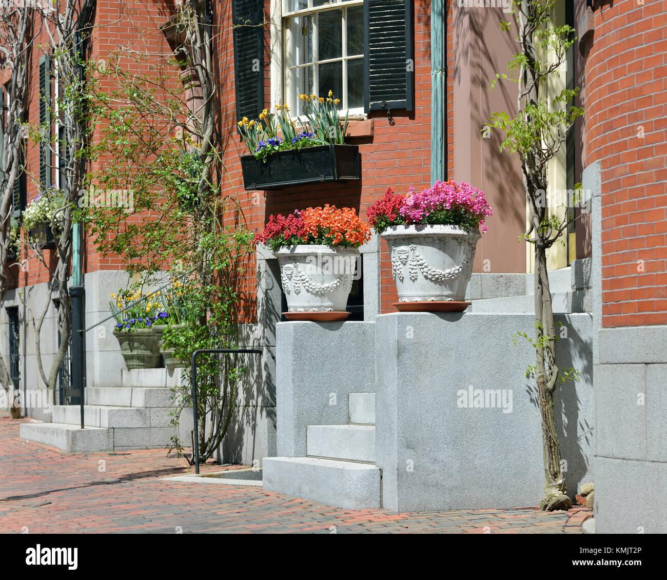 Front Door Planters Imágenes De Stock & Front Door Planters Fotos De ...
