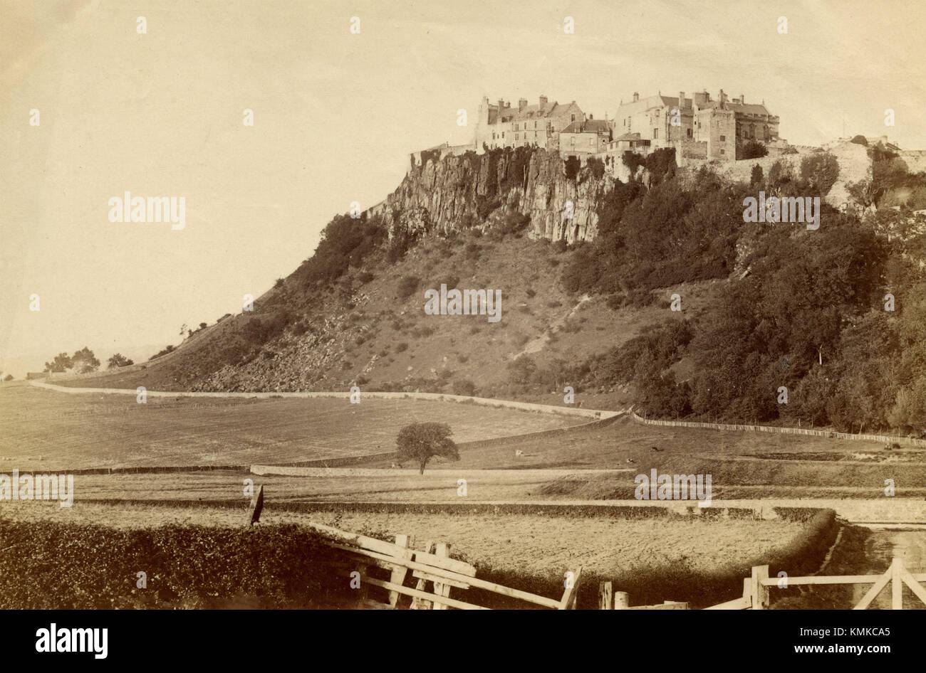 Castillo de Stirling del hipódromo, Escocia 1880 Imagen De Stock