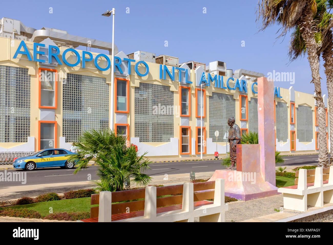 El Aeropuerto Internacional de Amilcar Cabral, Cabo Verde, África Imagen De Stock