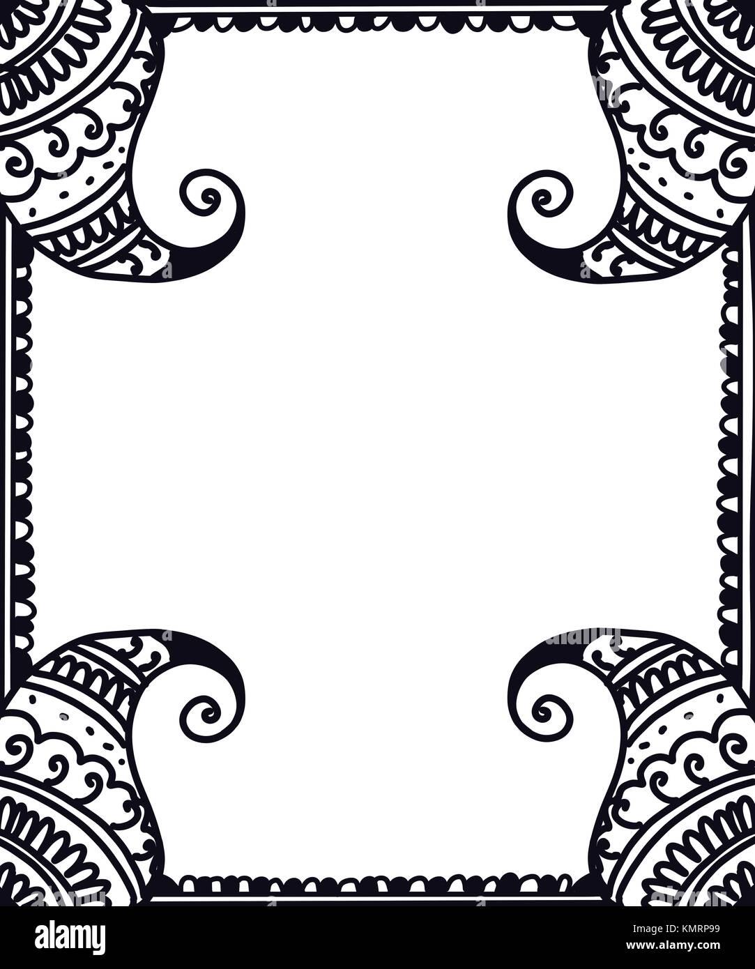 Paisley frontera étnica para tarjetas de felicitación y libros para ...