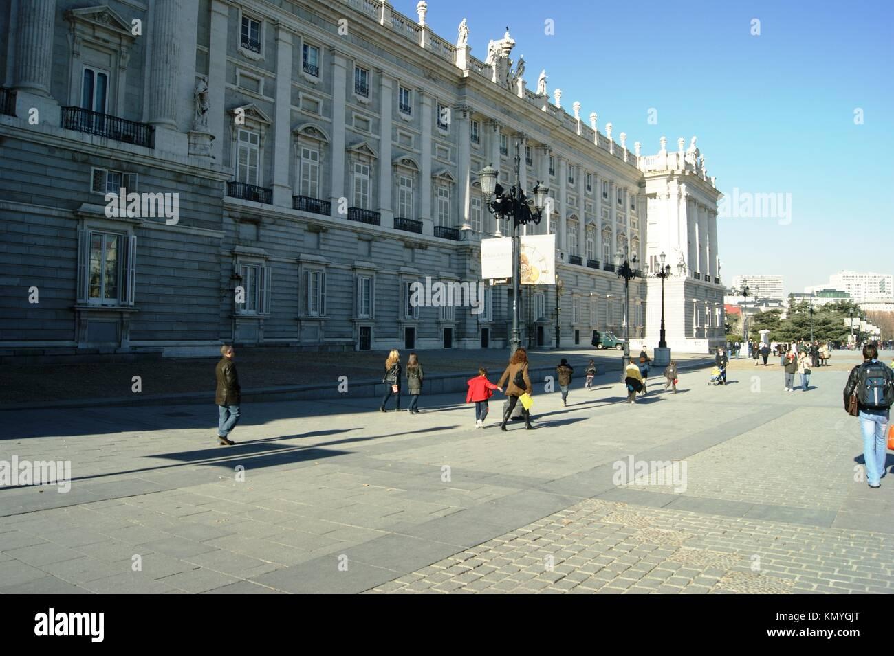El Palacio Real, Madrid, S[dolor Imagen De Stock