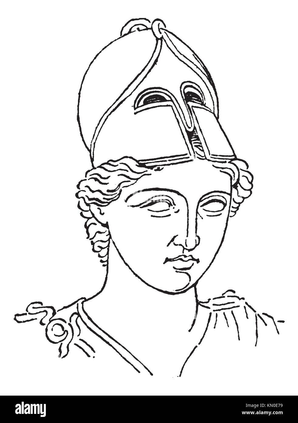 03985d8a1ad65 Cepillo de Centurión griego casco o galea vintage grabado grabado antiguo  ilustración del casco griego Imagen