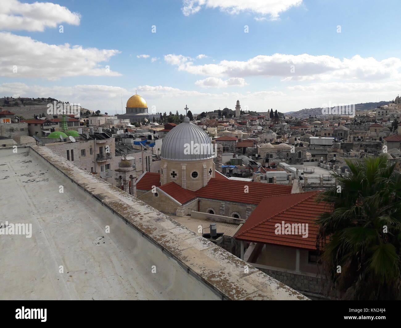Imagen De La Ciudad Vieja De Jerusalén Israel Tomada Desde