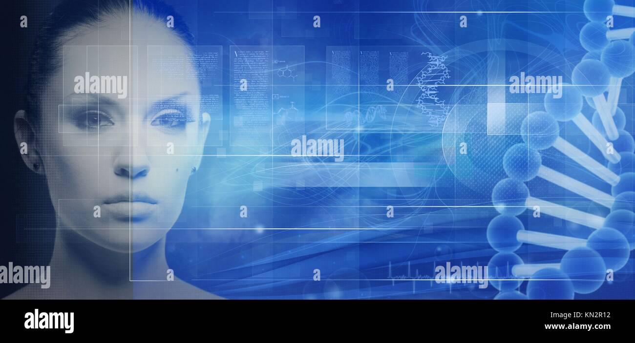 La biotecnología y la ingeniería genética fondos abstractos para su diseño Imagen De Stock