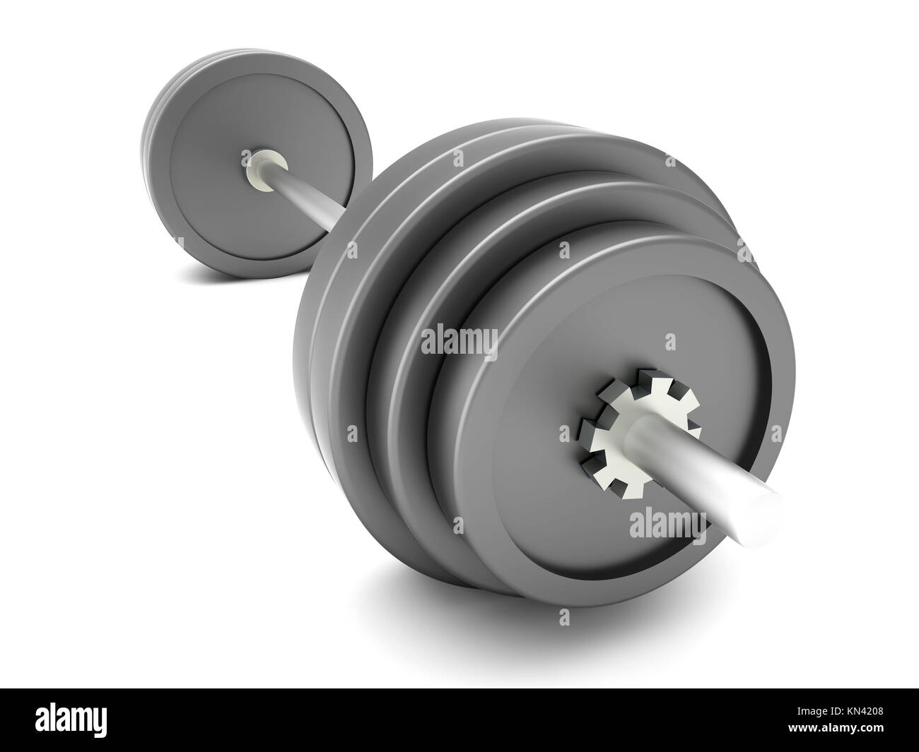Pesas para deportes y body building. Ilustración 3D prestados. Aislado en blanco. Imagen De Stock