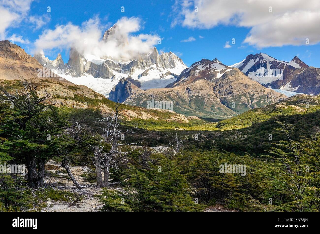 Paseo de Fitz Roy, El Chalten, Patagonia, Argentina. Foto de stock