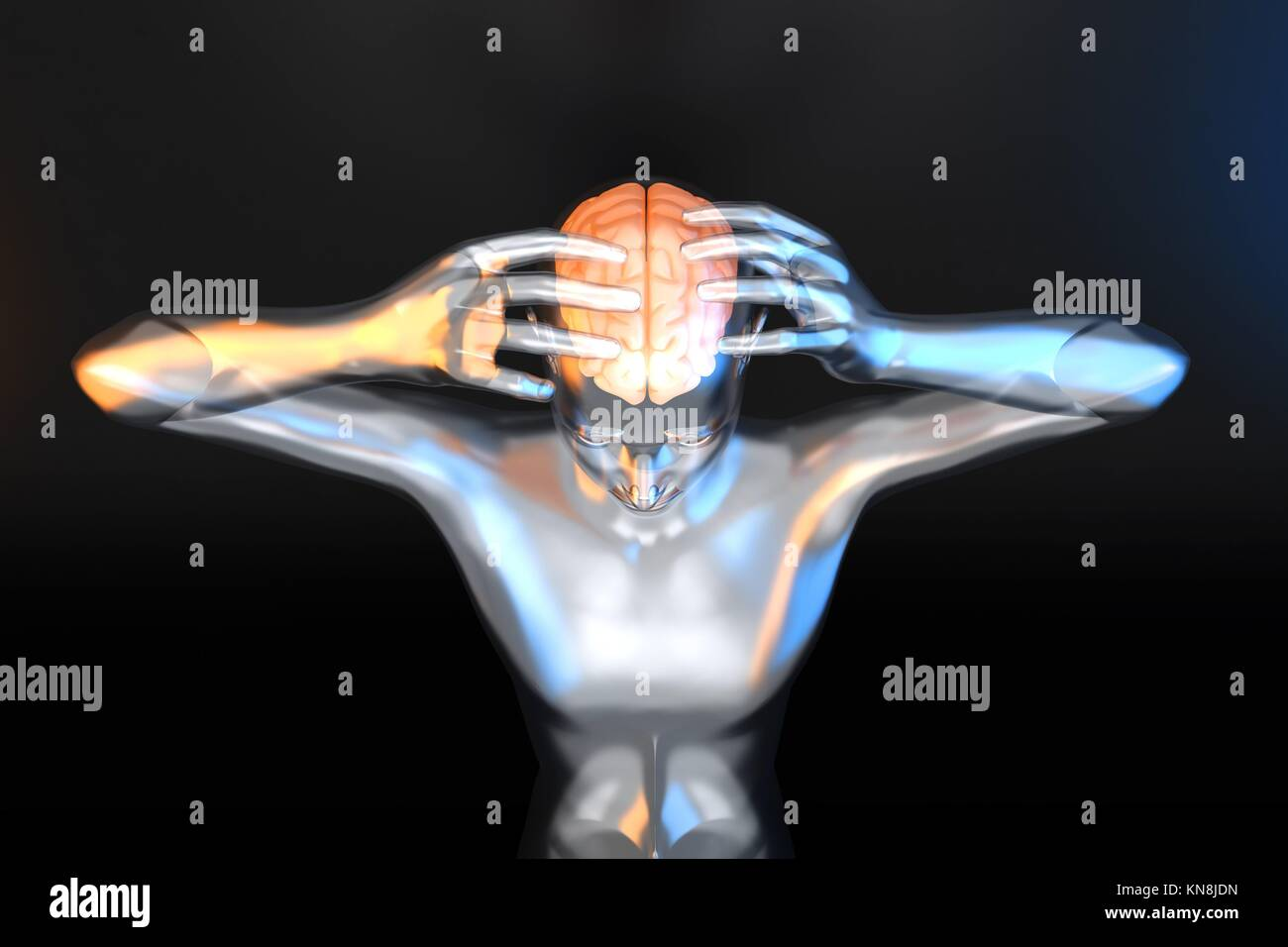 Poder Mental y la creatividad. Ilustración 3D prestados. Imagen De Stock