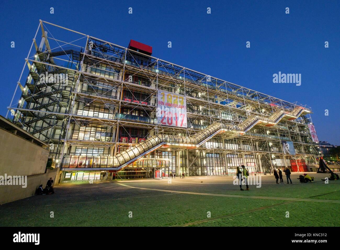 Centre national d'art et de culture Georges-Pompidou, París, Francia Foto de stock