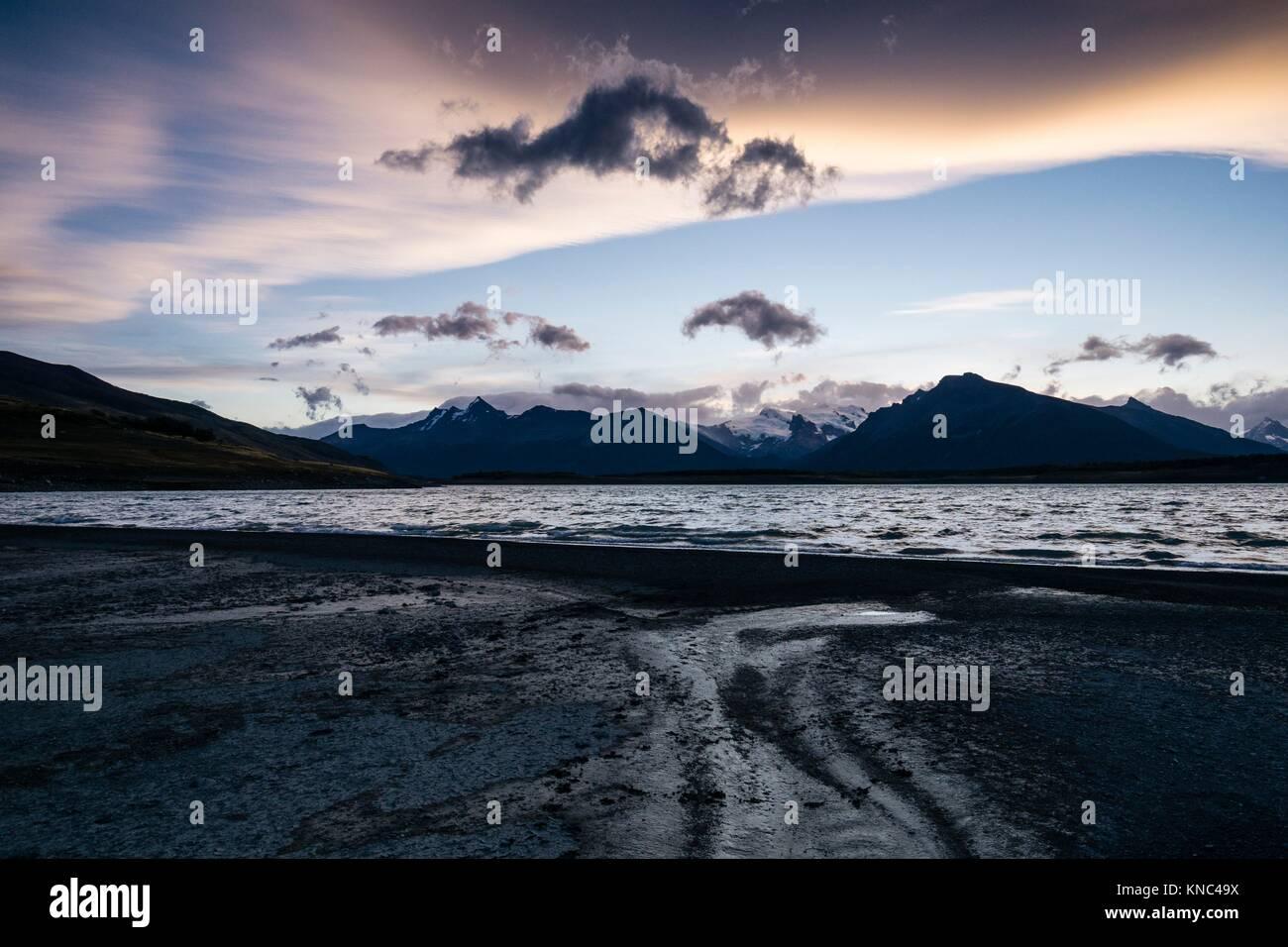 El Lago Roca, El Calafate, Parque Nacional Los Glaciares de la Patagonia Argentina. Imagen De Stock