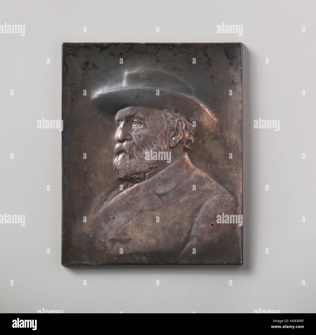 Collis P. Huntington. Artista: Victor David Brenner (American (nacido en Kaunas, Lituania), Nueva York, 1871-1924); Fecha: 1904; media: Galvano y plata; Foto de stock