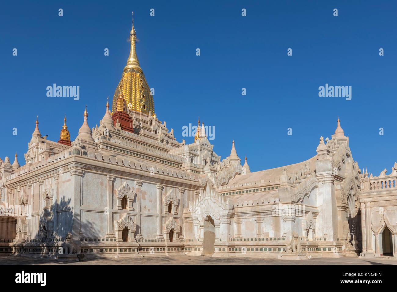 El Templo de Ananda, Bagan, Mandalay, Myanmar, Asia Imagen De Stock