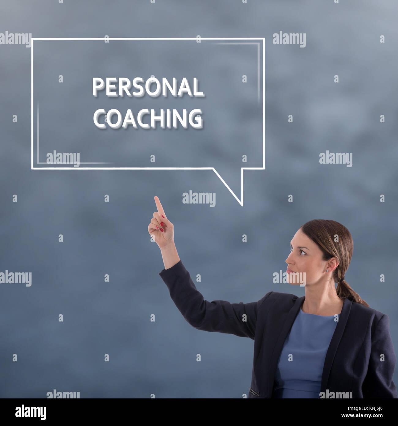 Concepto de negocio coaching personal. Mujer de negocios Concepto Gráfico Imagen De Stock