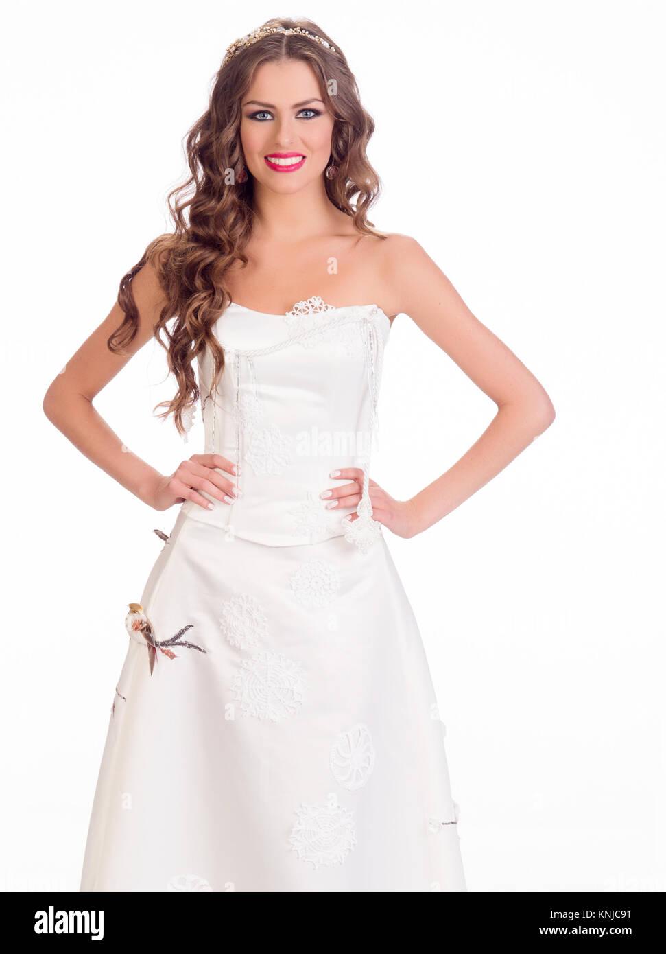 DORAL, FL - 23 de enero: Patricija Belousova, Miss Lituania 2014 plantea es su vestido de noche para la 63 edición Foto de stock