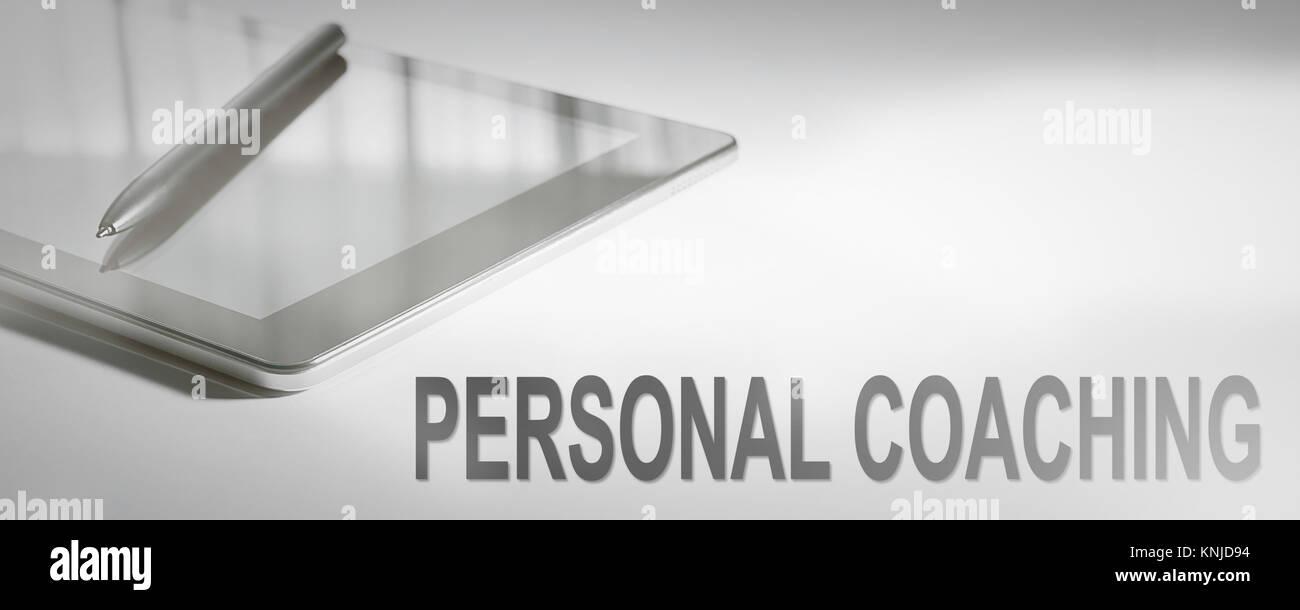 Concepto de negocio Coaching Personal La tecnología digital. Concepto Gráfico. Imagen De Stock