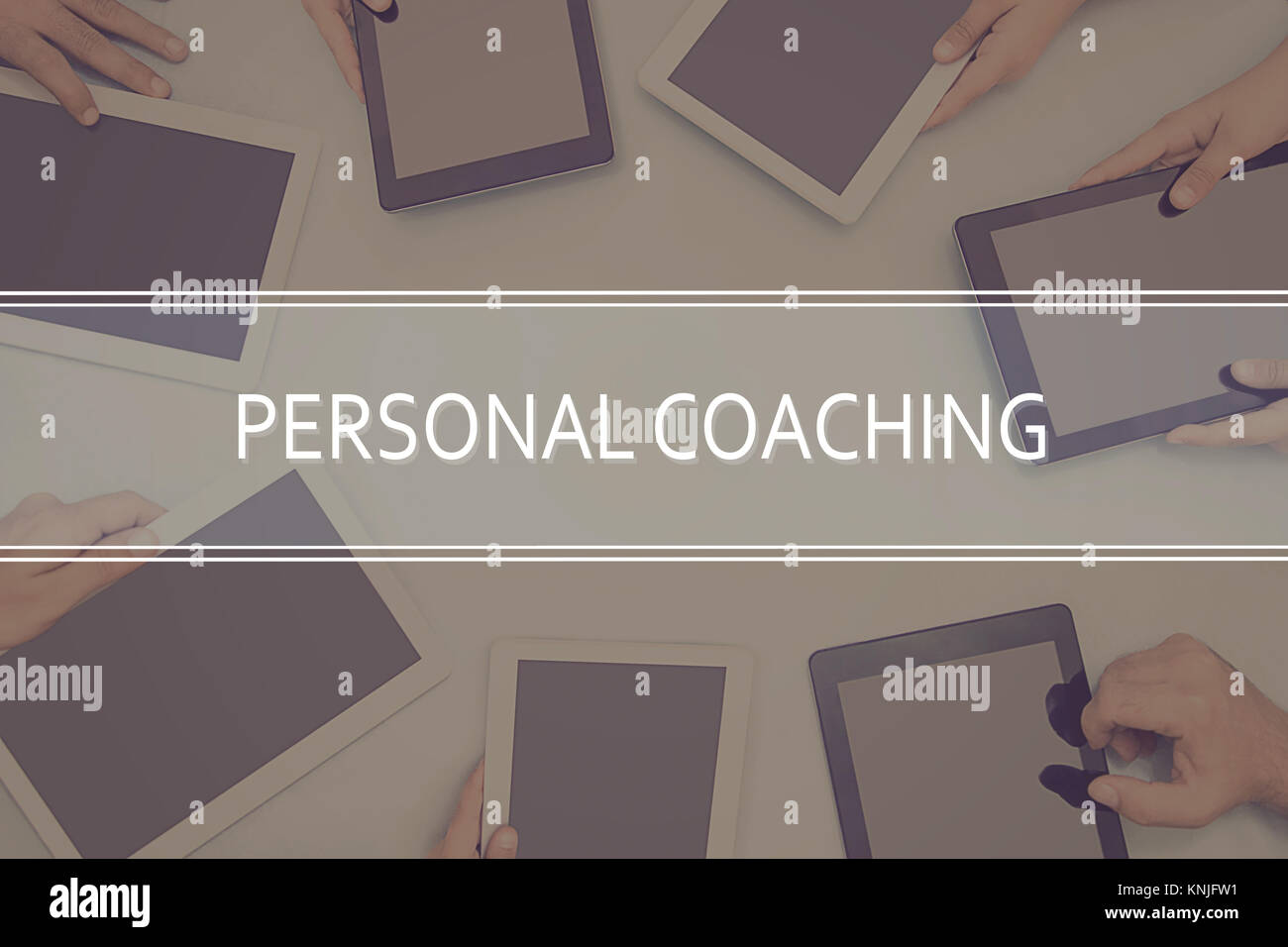 Concepto de coaching personal concepto empresarial. Imagen De Stock