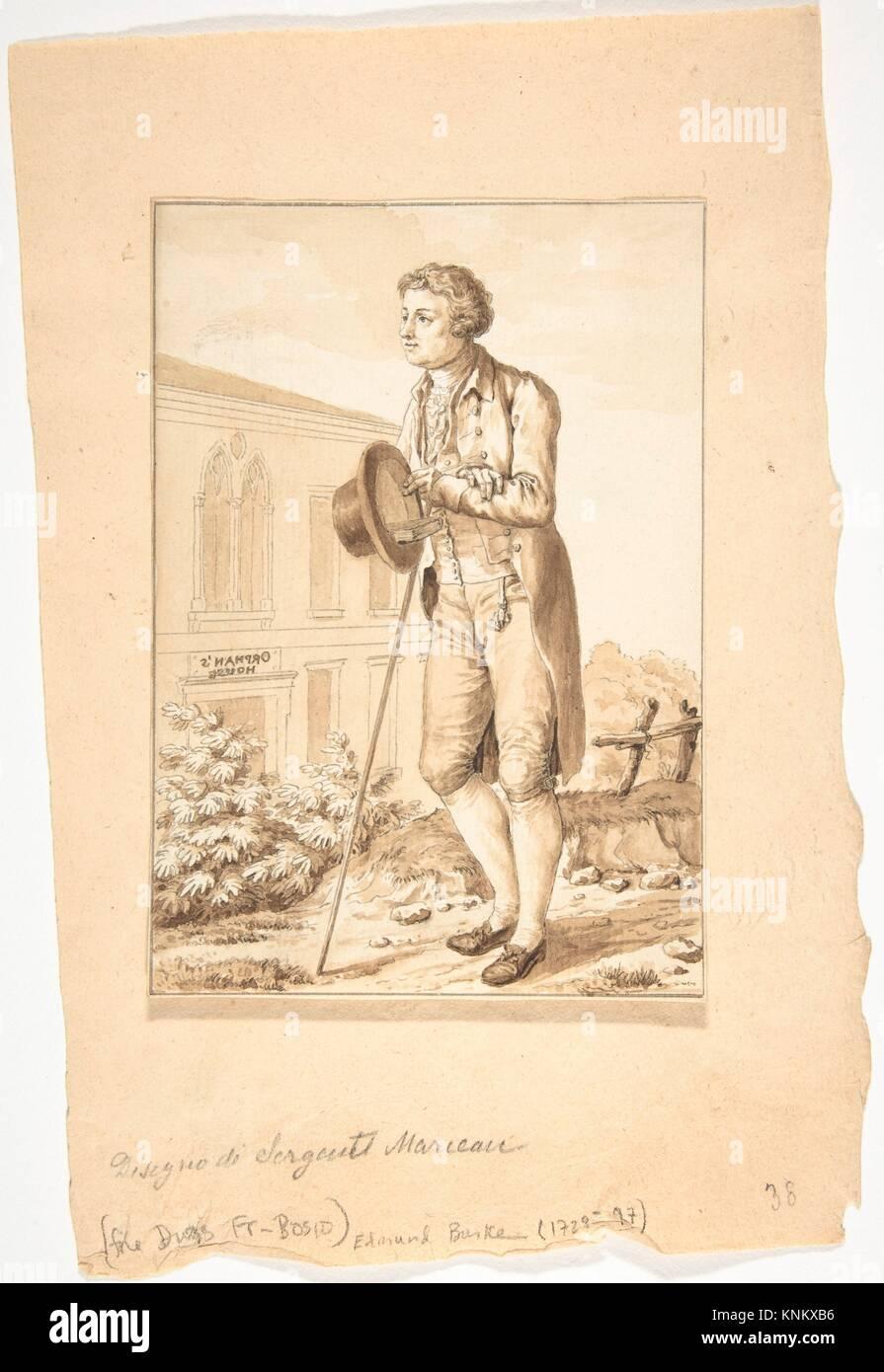 Retrato de Edmond Burke. Artista: Antoine Louis François Sergent Marceau (Francés, Chartres 1751-1847 Imagen De Stock