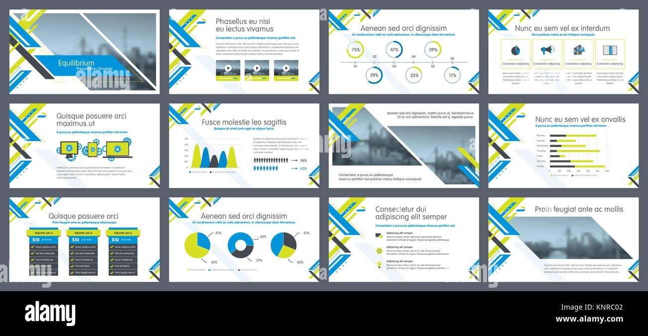 Elementos de la infografía para presentaciones plantillas. Informe ...