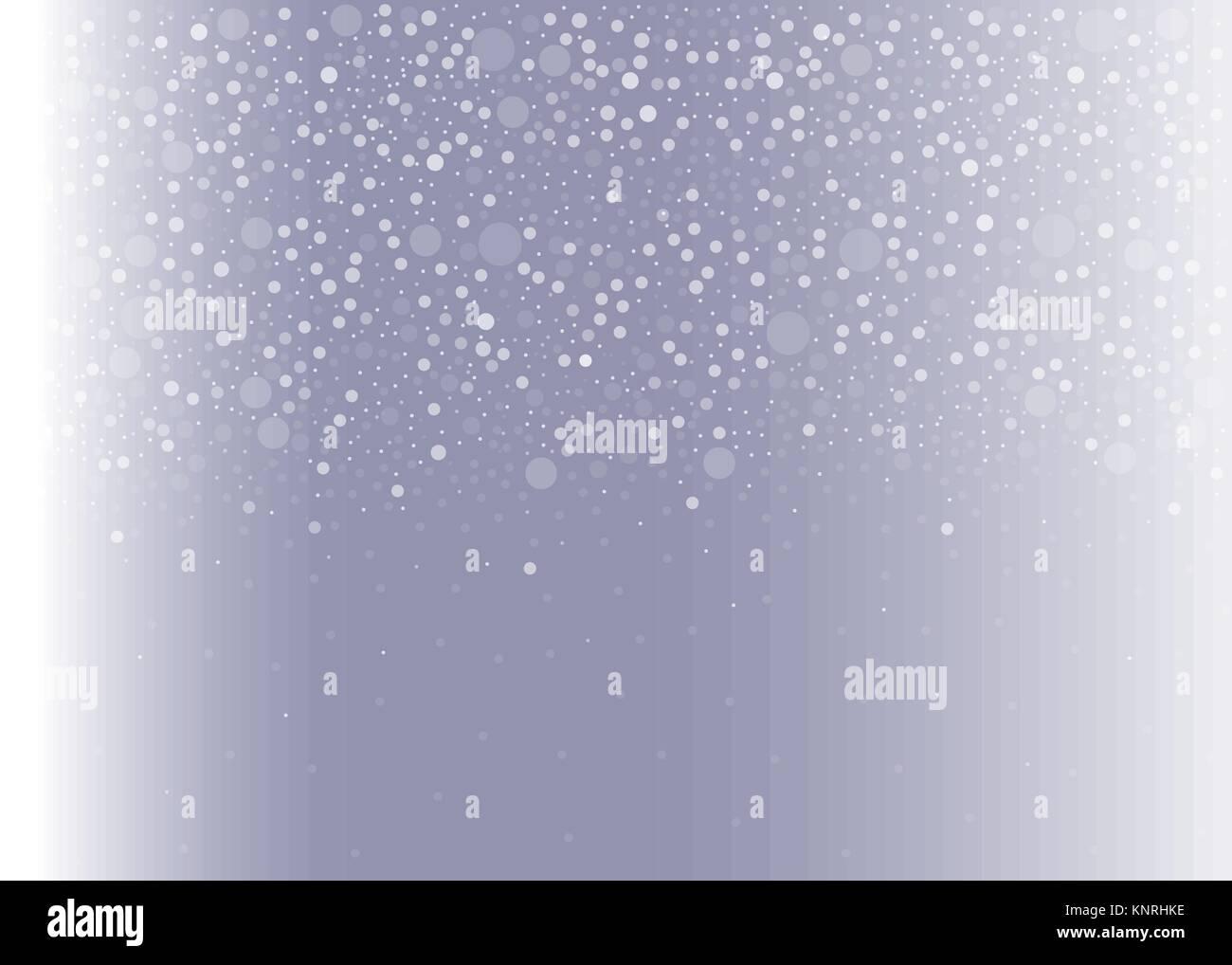 Lindo Fondo de invierno con caída de burbujas sobre fondo violeta y ...