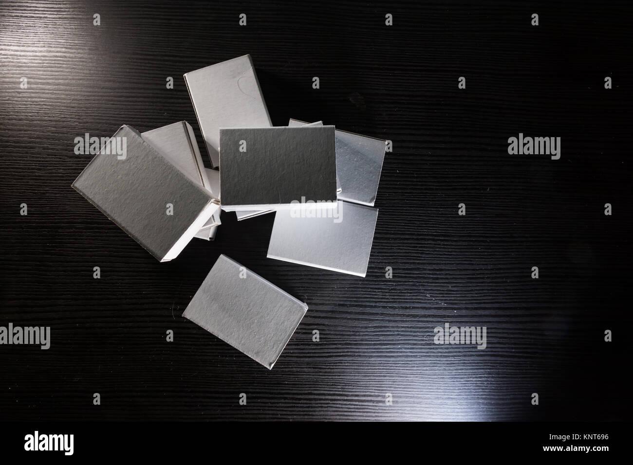 Coincidencia de papel Cajas de cartón cajas de cartón blanco ...