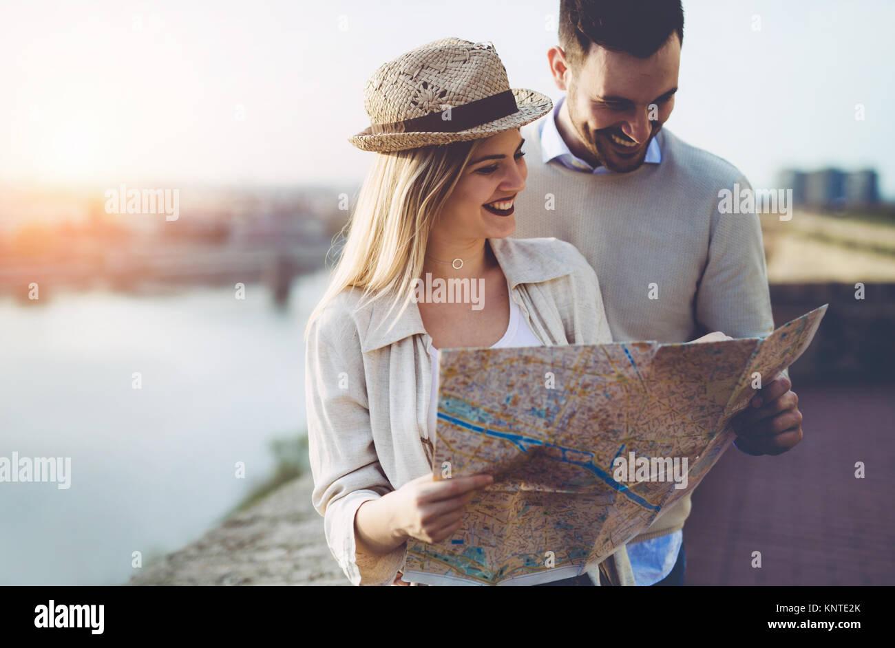 Hermoso par de viajes y turismo Imagen De Stock