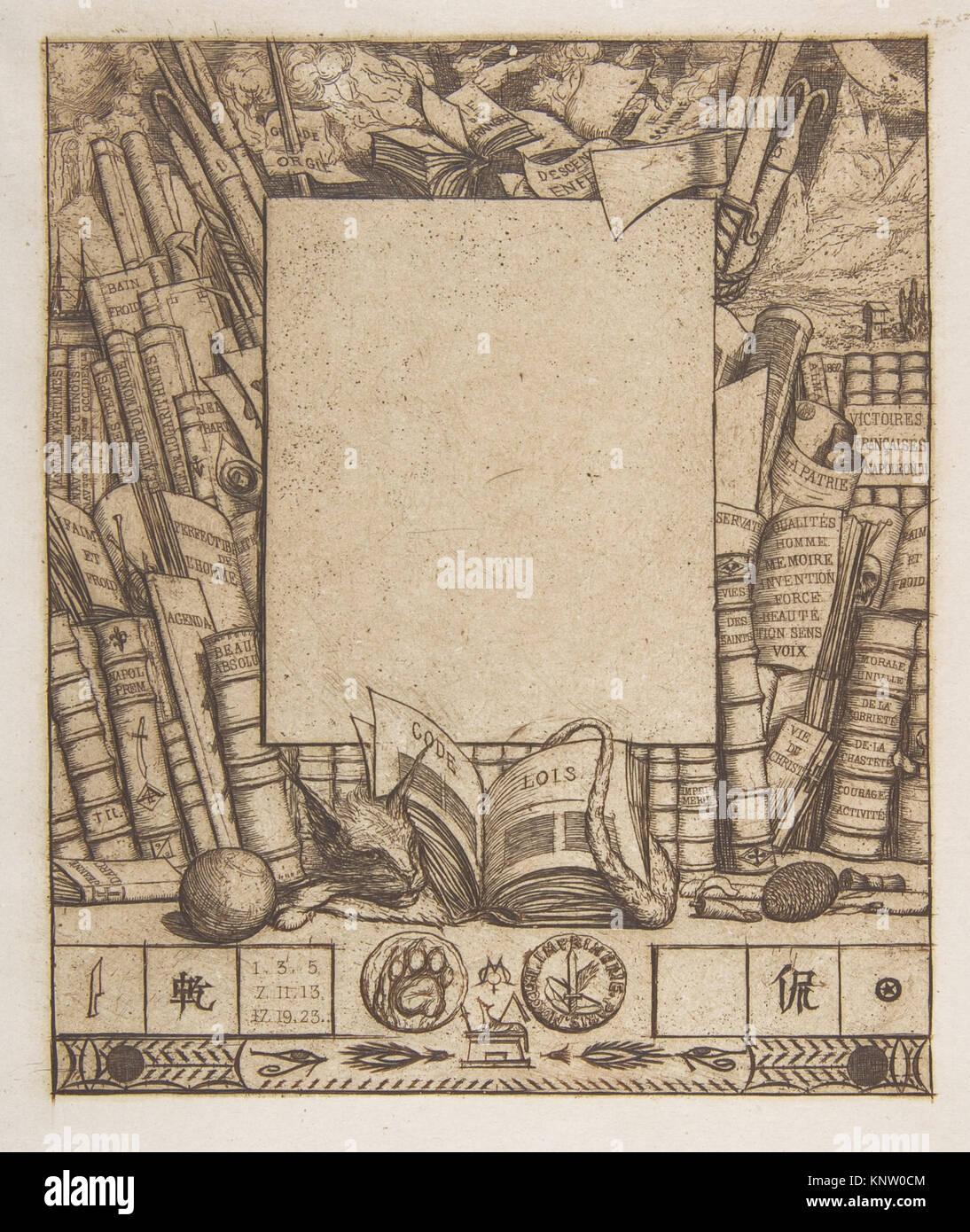 Diseño de un marco para el retrato de Armand Guéraud reunió DP813246 ...